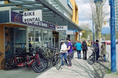 What Assortment Does This Stanley Park Bike Rental Offer?
